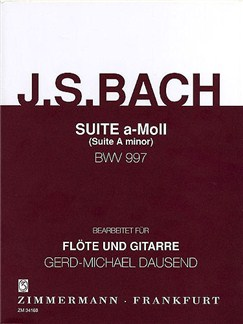J.S. Bach: Suite In A Minor BWV 997 (Flute/Guitar) Books | Flute, Guitar