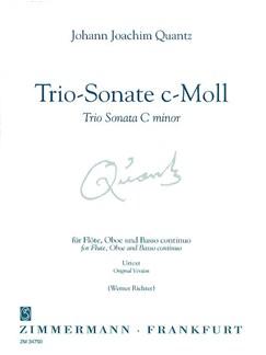 Johann Joachim Quantz: Trio Sonata In C Minor (Zimmermann Urtext Edition) Books | Flute, Oboe, Continuo