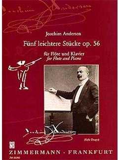 Joachim Andersen: Funf Leichtere Stucke Op.56 Books | Flute, Piano Accompaniment