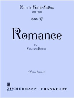 Camille Saint-Saens: Romance Op.37 (Flute/Piano) Books | Flute, Piano Accompaniment