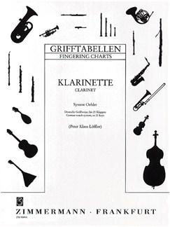 Clarinet Fingering Chart (German System) Books | Clarinet