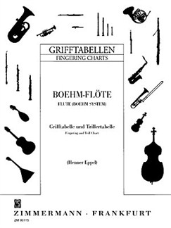 Fingering Chart - Bohm System With Trills Books | Flute