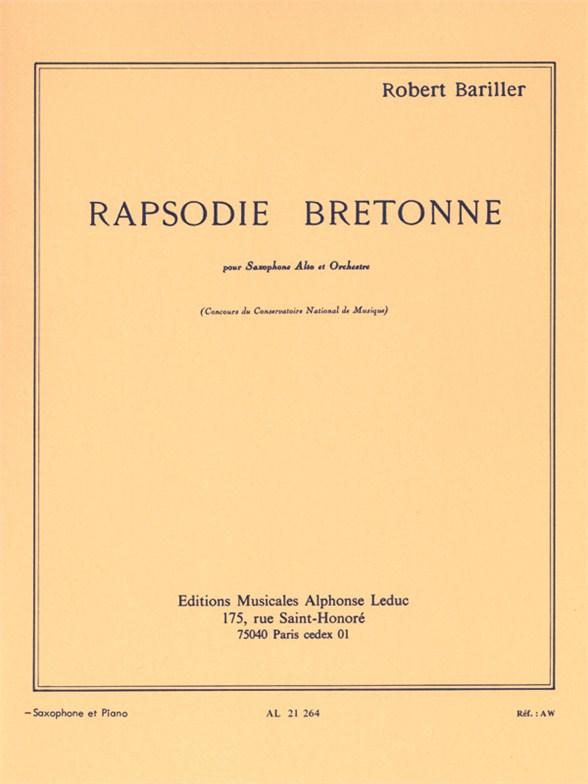 Robert Bariller: Rapsodie Bretonne (Alto Saxophone/Piano)