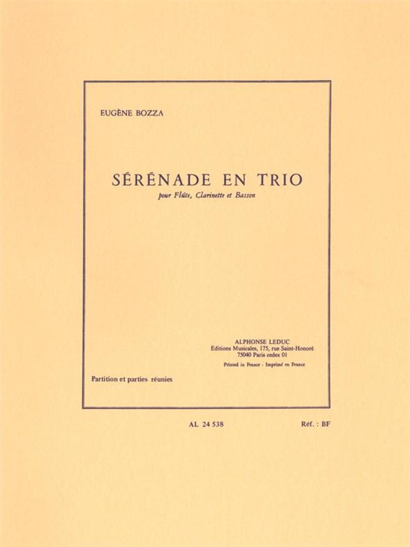 Eugène Bozza: Sérénade En Trio (Flute/Clarinet/Bassoon)