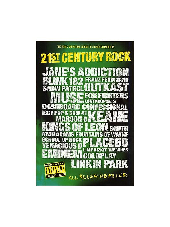 21st Century Rock Chord Songbook 5 Lyrics Chords Sheet Music