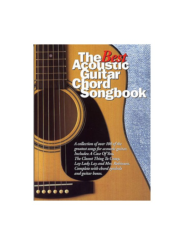 The Best Acoustic Guitar Chord Songbook Guitar Sheet Music Sheet
