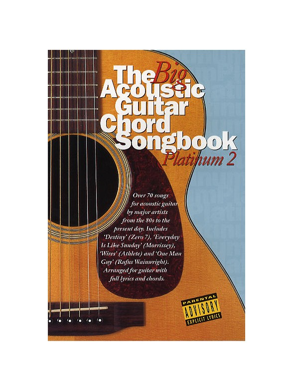 The Big Acoustic Guitar Chord Songbook: Platinum 2 - Lyrics & Chords ...