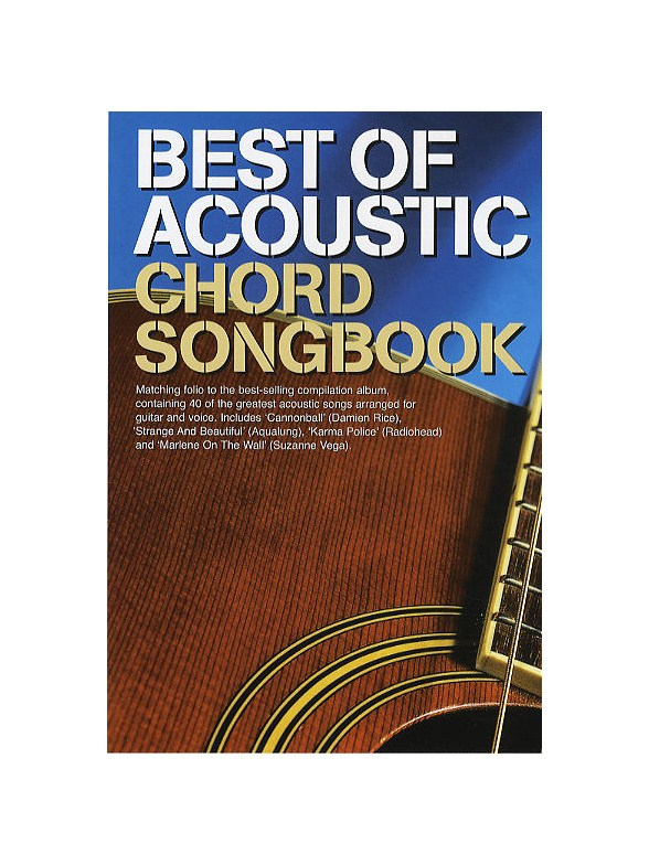 Best Of Acoustic: Guitar Chord Songbook - Melody Line, Lyrics ...