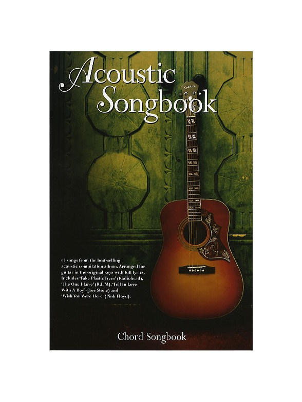 Sheet Music Acoustic Songbook Chord Songbook Lyrics And Chords