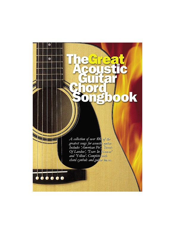 The Great Acoustic Guitar Chord Songbook - Lyrics & Chords Sheet ...