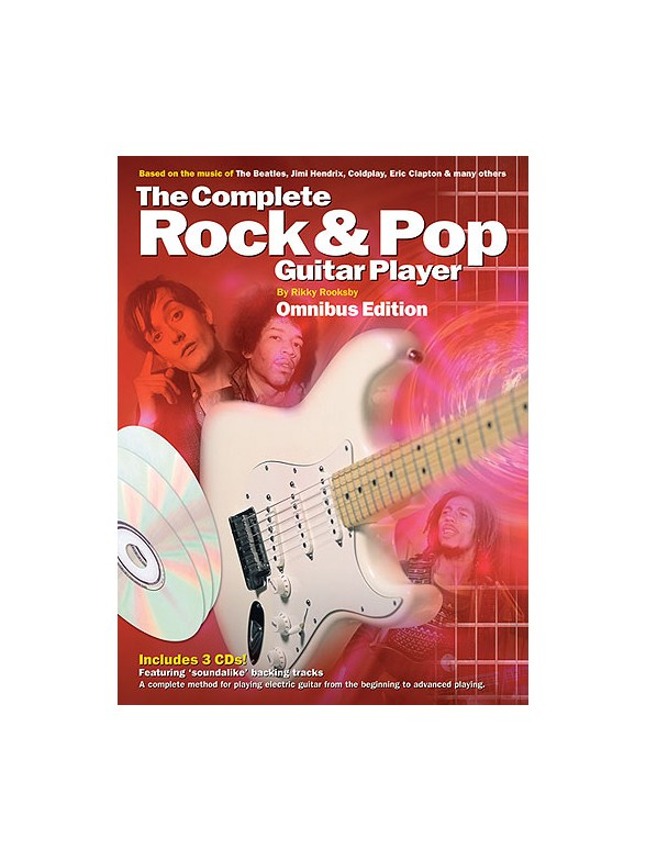 Complete Rock And Pop Guitar Player Omnibus Edition Book 3CDs