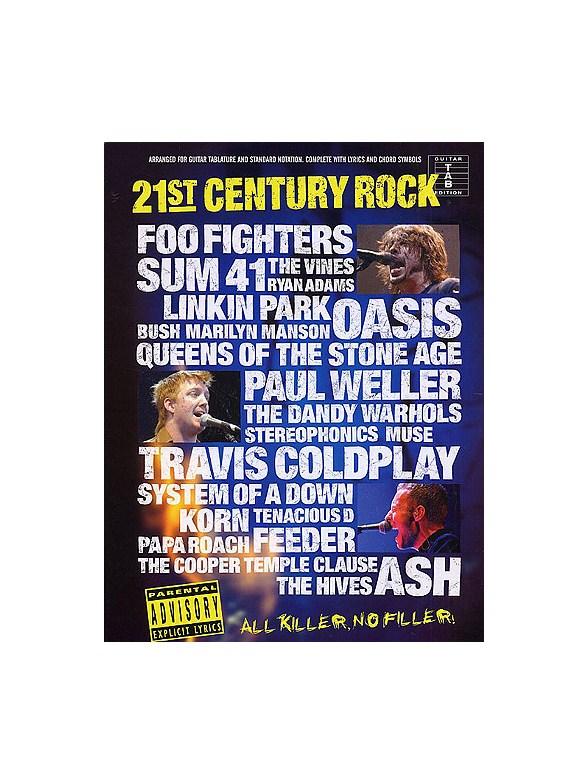 21st Century Rock Tab Slipcase Guitar Tab Sheet Music Sheet
