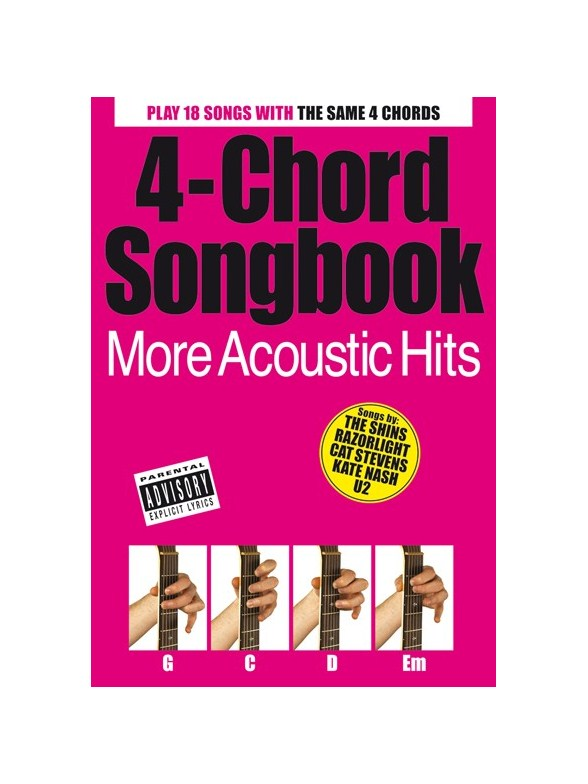 4-Chord Songbook: More Acoustic Hits - Lyrics & Chords Sheet Music ...