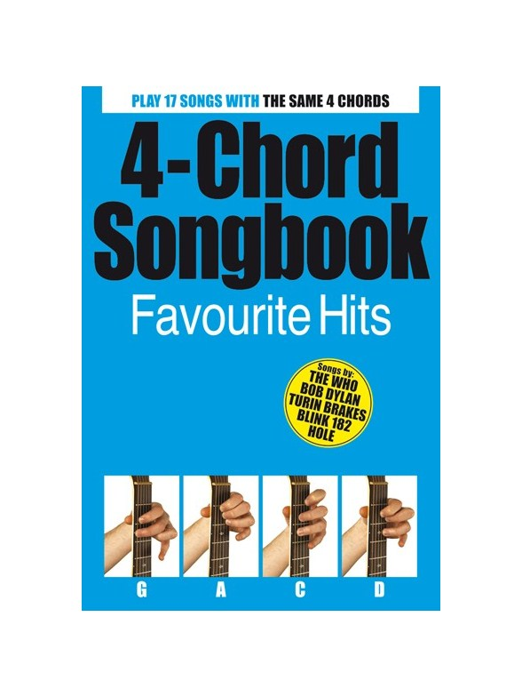 4 Chord Songbook: Favourite Hits - Guitar Sheet Music - Sheet Music ...