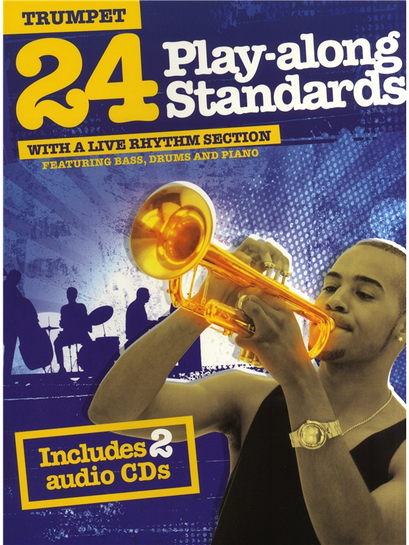 Sheet Music 24 Play Along Standards With A Live Rhythm