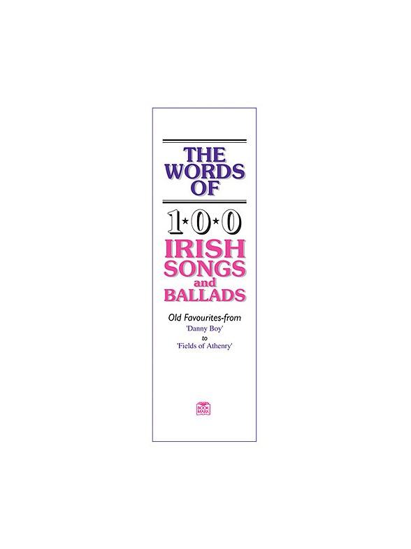 The Words Of 100 Irish Songs And Ballads Piano Accompaniment Sheet