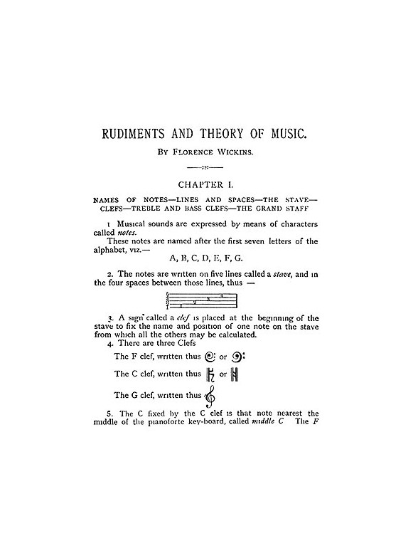 Florence Wickens: Rudiments And Theory Of Music - Sheet Music ...