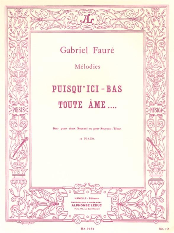 ici bas sheet music pdf
