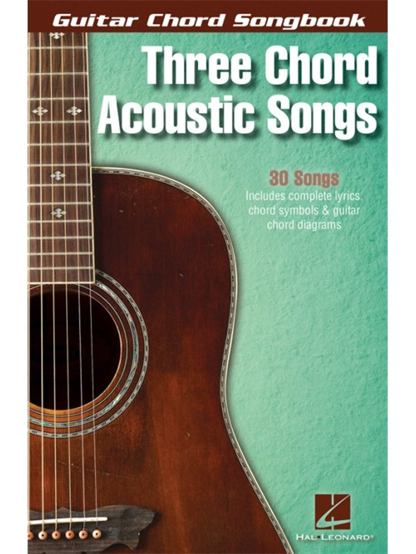 Guitar Chord Songbook: Three Chord Acoustic Songs - Guitar Sheet ...