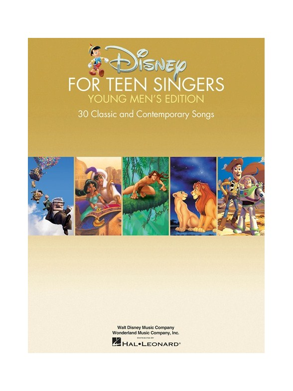 Disney For Teen Singers Young Mens Edition Piano Accompaniment