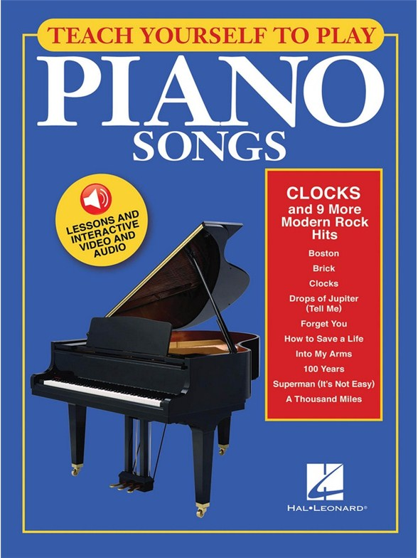 Modern Book Cover Keyboard : Teach yourself to play piano songs clocks and more