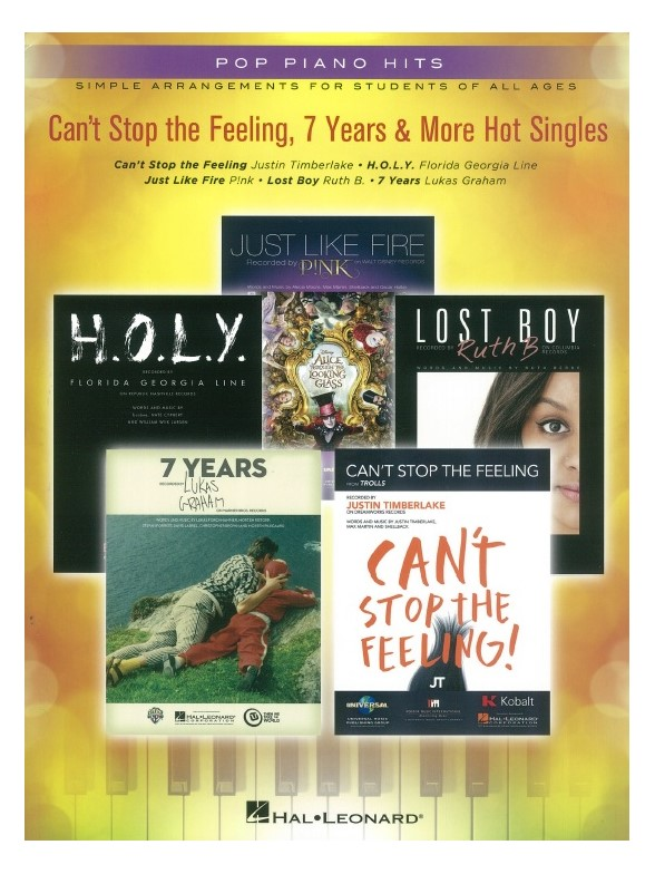 Pop Piano Hits: Can\'t Stop the Feeling, 7 Years & More Hot Singles