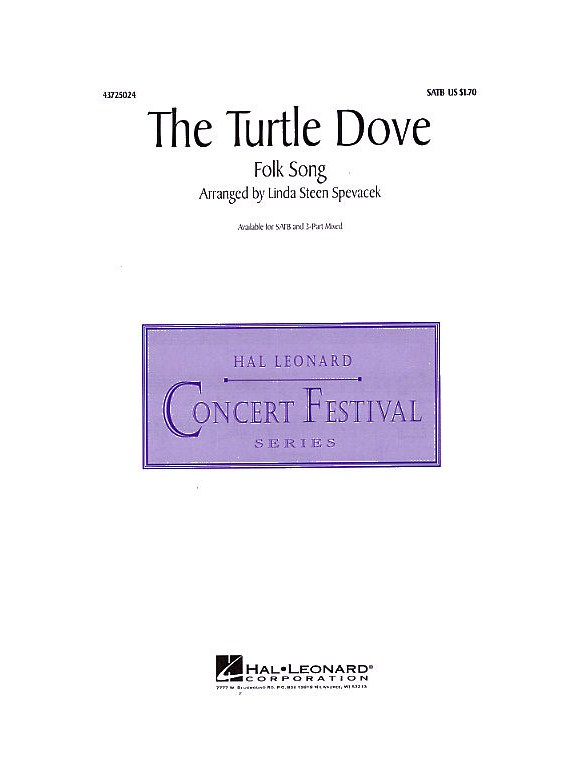 The Turtle Dove Satb Accompagnement Piano Partitions Partitions Et Recueils