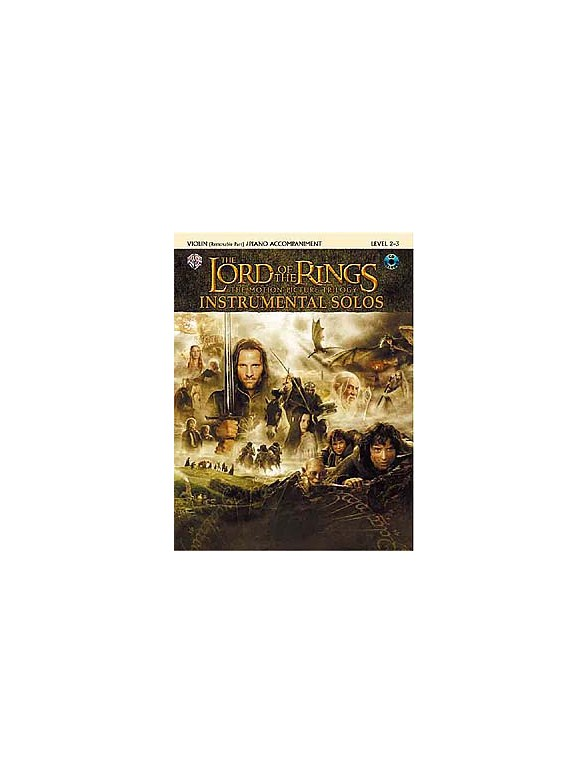 Lord Of The Rings Instrumental Solos Violin Piano Accompaniment Book Cd