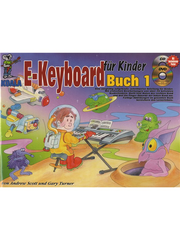e keyboard f r kinder book cd dvd poster keyboard. Black Bedroom Furniture Sets. Home Design Ideas