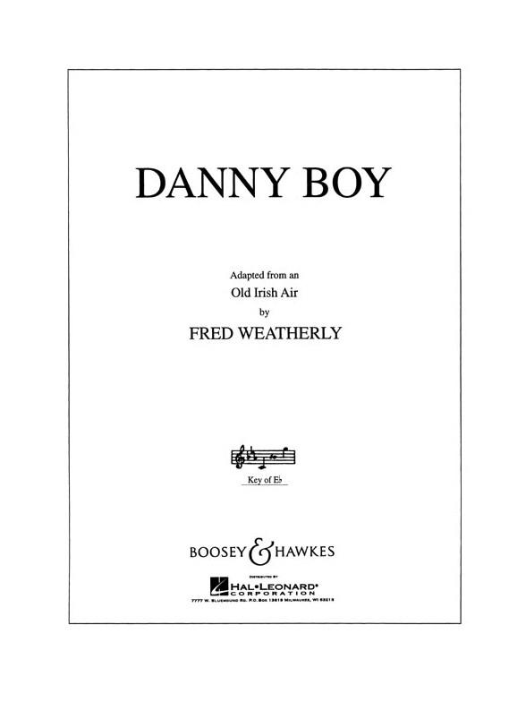 Danny Boy Key Of E Flat Piano Accompaniment Sheet Music Sheet