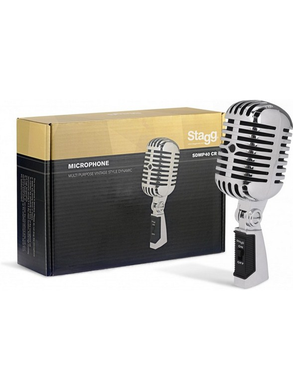 Click to view product details and reviews for Stagg Multipurpose 50s Retro Style Cardioid Dynamic Microphone.