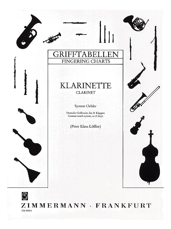 Clarinet Fingering Chart (German System) - Clarinet Books