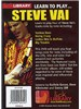 Lick Library: Learn To Play Steve Vai