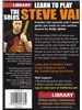 Lick Library: Learn To Play Steve Vai - The Solos