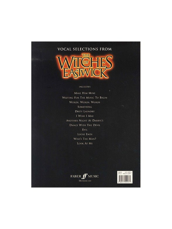 Dana Rowe The Witches Of Eastwick Vocal Selections Piano Vocal