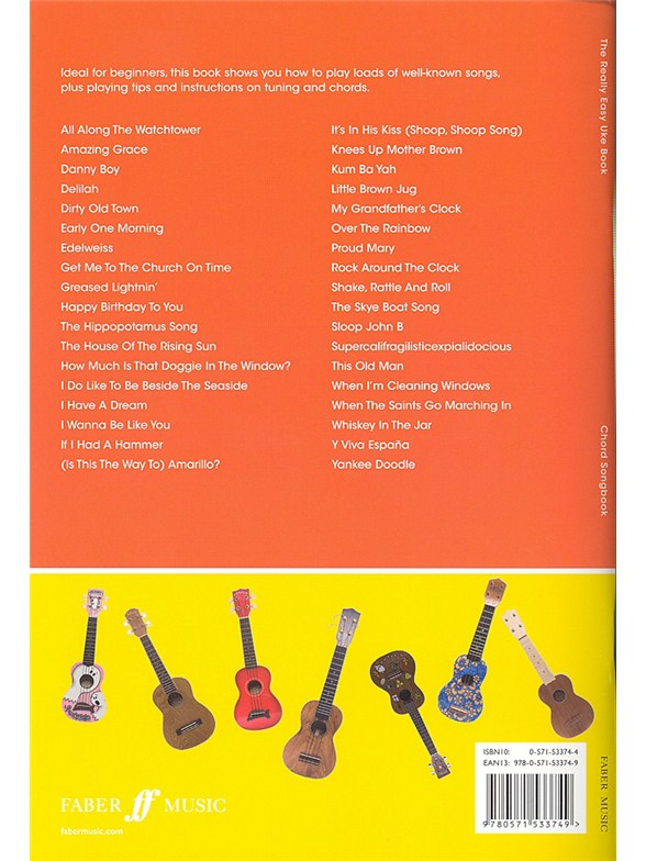The Really Easy Uke Book - Ukulele Sheet Music - Sheet Music ...