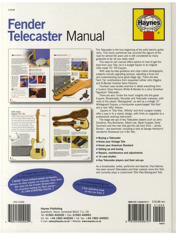 paul balmer haynes fender telecaster manual books books about rh musicroom com Paul Balmer MD Paul Balmer MD