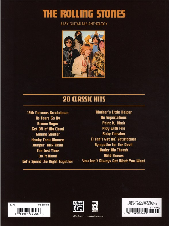 The Rolling Stones: 20 Classic Hits For Easy Guitar TAB - Guitar ...