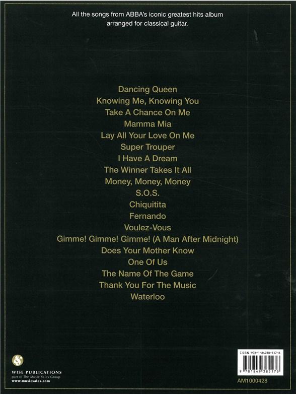 ABBA: Gold - Classical Guitar Edition - Classical Guitar Sheet Music ...