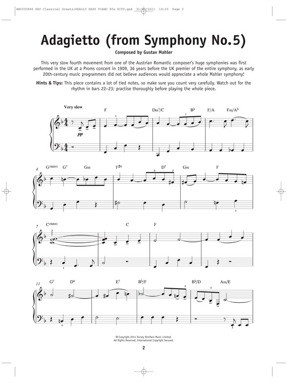 free classical piano sheet music really easy piano classical greats piano sheet 20882 | am1000846 1