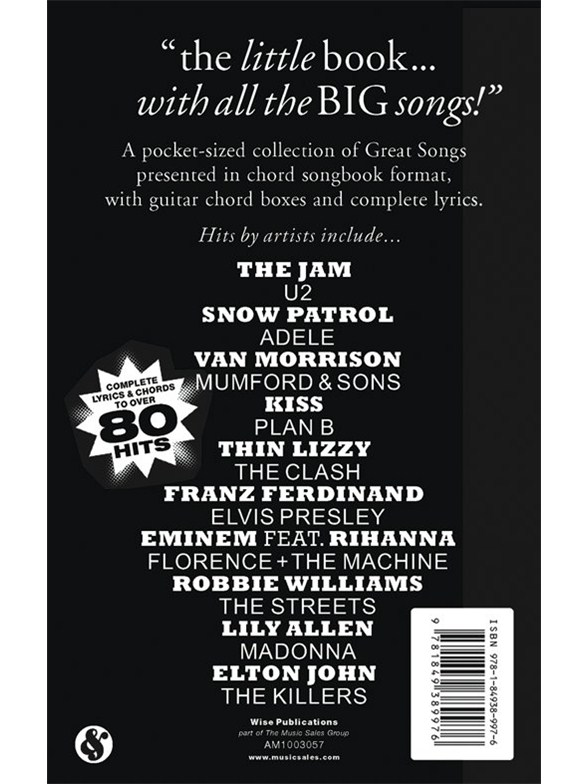 The Little Black Songbook: Great Songs - Lyrics & Chords Sheet Music ...