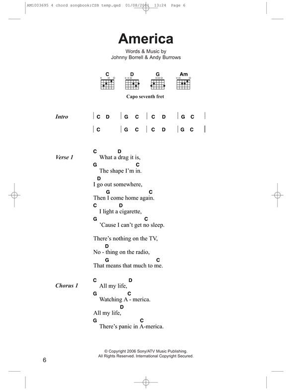 Playalong Four-Chord Songbook: Guitar Classics - Lyrics & Chords ...