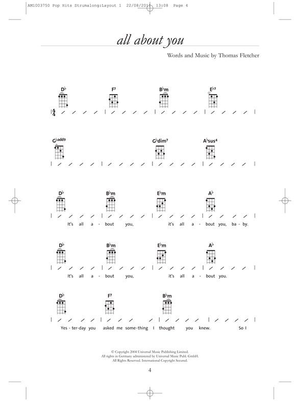 Strumalong Ukulele Pop Hits Ukulele Sheet Music Sheet Music