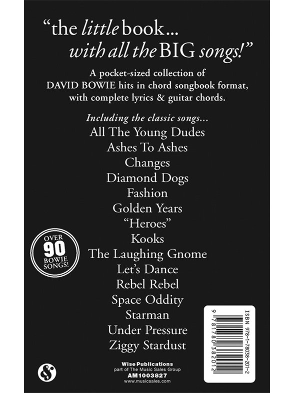 The little black songbook david bowie lyrics chords sheet music the little black songbook david bowie lyrics chords sheet music sheet music songbooks musicroom stopboris Gallery
