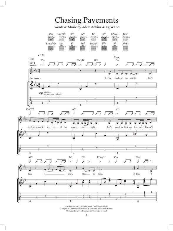 Adele: The Best Of (Guitar Tab) - Guitar Sheet Music - Sheet Music ...