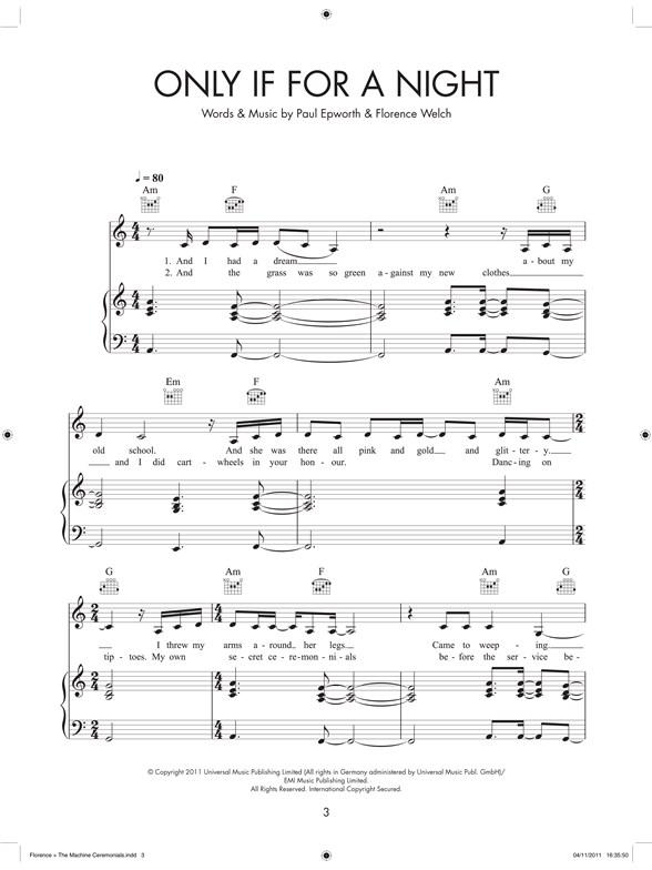 Florence The Machine Ceremonials Piano Vocal Guitar Sheet