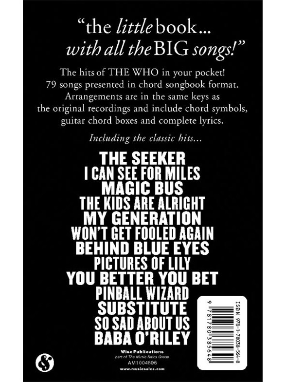 The Little Black Songbook The Who Lyrics Chords Sheet Music