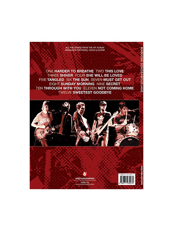 Maroon 5: Songs About Jane (PVG) - Piano, Vocal & Guitar Sheet Music ...