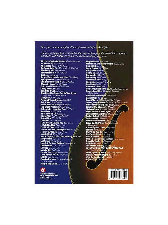 The Big Guitar Chord Songbook 50s Lyrics Chords Sheet Music