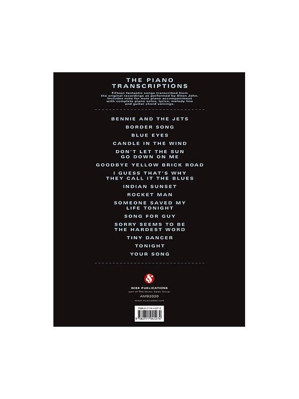 Elton John The Piano Transcriptions Melody Line Lyrics Chords